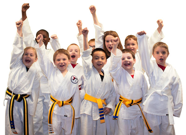 Happy-kids-karate-class-colorado-springs-cheering