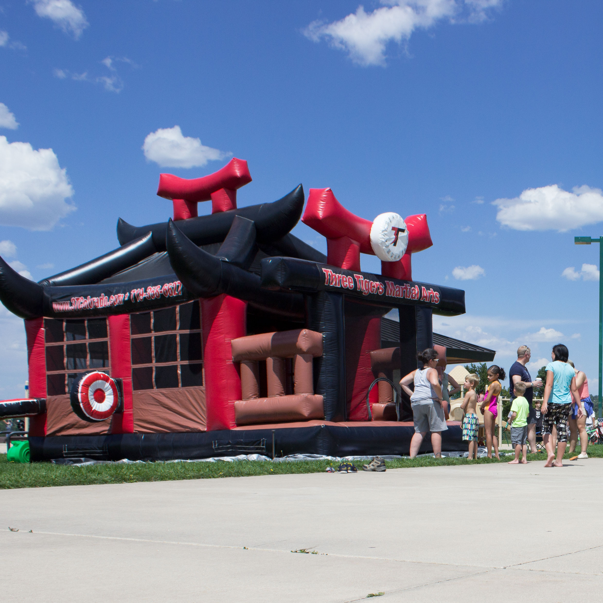 Ninja Bounce House Birthday Party