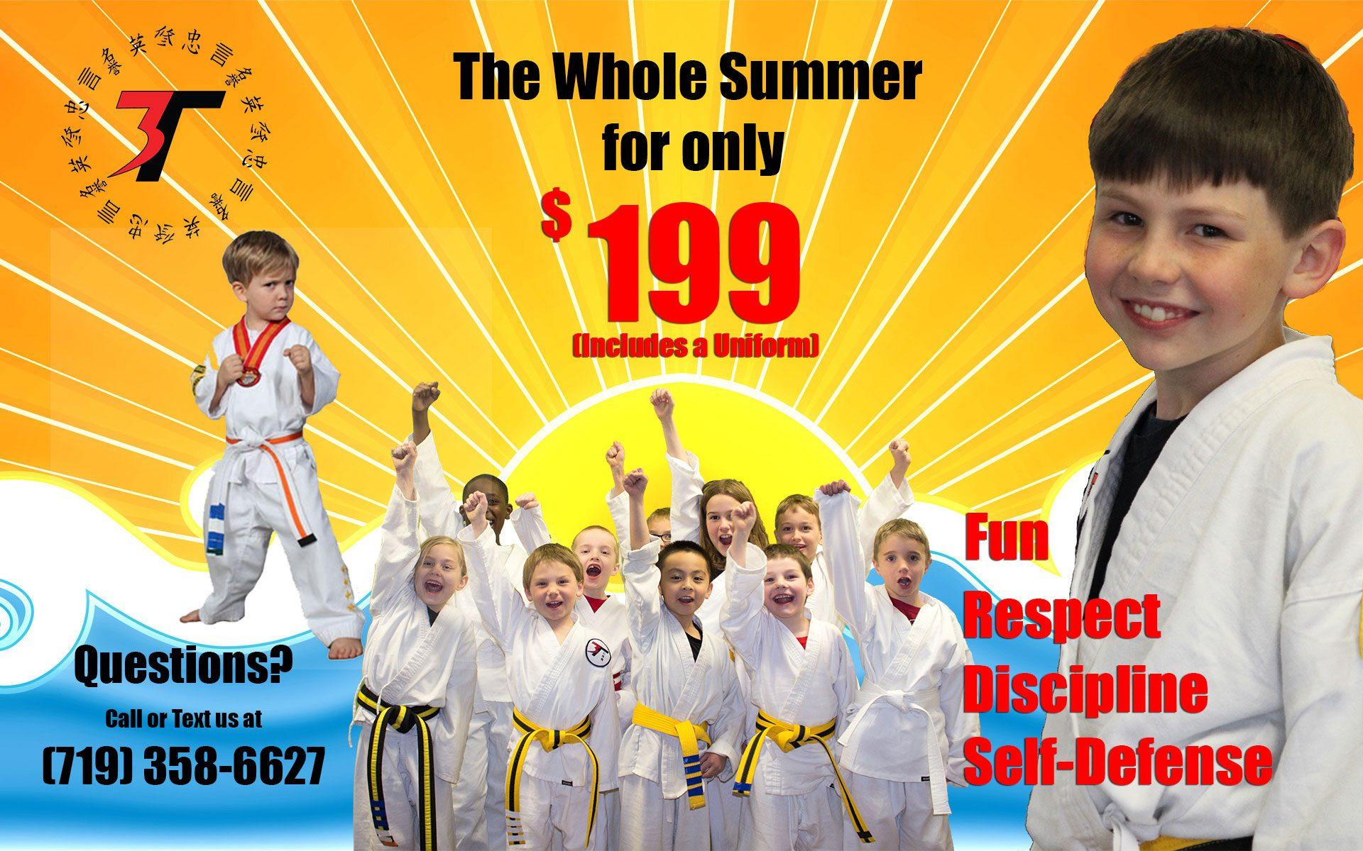 Summer Karate for kids